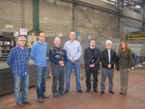 ביקור נציגי המוסד לבטיחות וגהות במפעל הפח